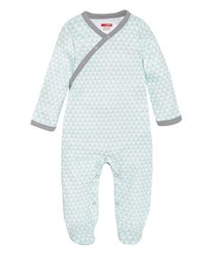 Look what I found on #zulily! Blue Geometric Snap-Front Footie by Skip Hop #zulilyfinds
