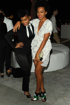 Solange & Janelle Monae...awesome, unique photo of two self assured women :)