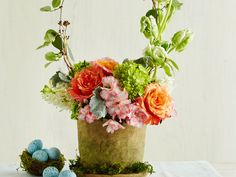 This Easter Basket Centerpiece Only Looks Tricky To Pull Off   SouthernLiving