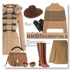 """""""What Are Your Winter Essentials?"""" by viola279 ❤ liked on Polyvore featuring Burberry, Tory Burch, Chloé, Lack of Color, Banana Republic and Topshop Unique"""
