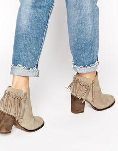 ALDO Casalnuoyo Taupe Suede Heeled Ankle Boots