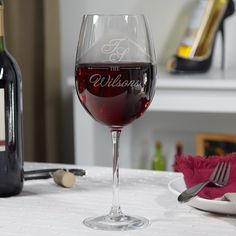 Make your dinner party stand out from the rest with these custom etched wine glasses.