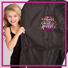Don't Let Anyone Dull Your Sparkle! Fashion Bling Garment Bag with Rhinestone Logo