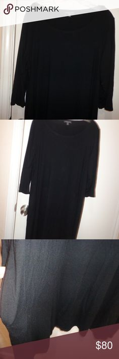 2X Eileen Fisher Black Dress  - EUC very gently used, no holes or stains.   viscose  blend, machine washable  armpit to armpit 24 length 36 11/13---- Eileen Fisher Dresses