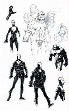 Mike Mignola's sketchbook pages fromtheHellboy: The Right Hand...
