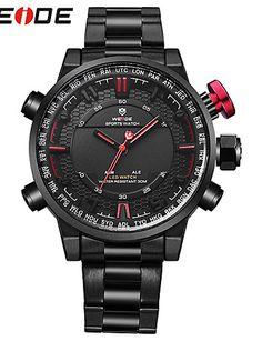 WEIDE Hombre Reloj Deportivo Reloj de Moda Japonés Cuarzo Digital Cuarzo  Japonés Despertador Calendario Resistente al 681f79887863