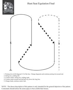 Practice this hunt seat equitation horse show pattern to sharpen your skills before your next competition!