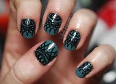 lace nail designs- do with sharpie?