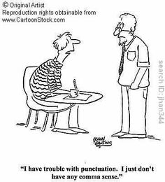 Punctuation related comic