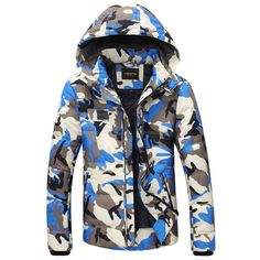72.85$  Watch now - http://aliw6d.worldwells.pw/go.php?t=32517457937 - 2016 men winter new style  camouflage thickening 90% white duck down jacket coat free shiping