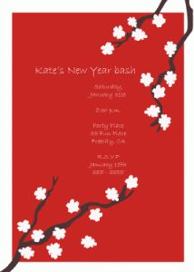 chinese new year party invitations google search