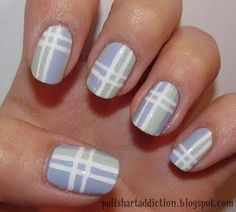 #NailArt plaid tutorial