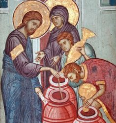 Archaeologists Think They Found Where Jesus Performed First Miracle - 1776 Christian Water Into Wine, Best Icons, Biblical Art, Religious Icons, Orthodox Icons, Blessed Mother, Christian Art, Christianity, Catechism