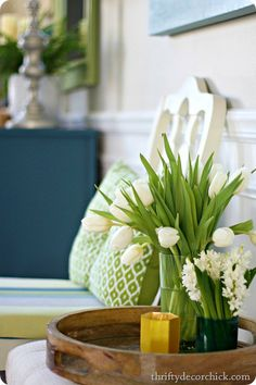 Decorating for spring with COLOR!