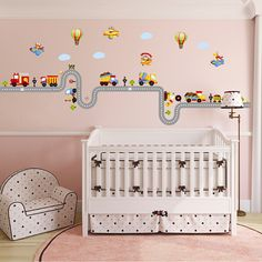 Large removable 3d cartoon train wall stickers for kids rooms child bedroom wall decals living room pvc wallpaper