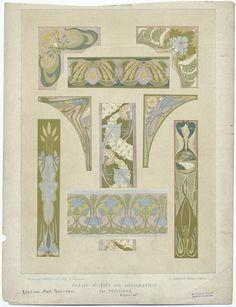 Petits motifs de décoration par Petitjean - ID: 818622 - NYPL Digital Gallery