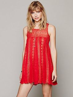 Free People FP ONE Foiled Annabella Dress