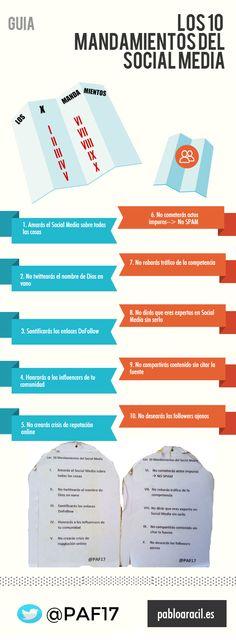 Infografía Los 10 mandamientos del Social Media   #SocialMedia #RedesSociales #Infografía