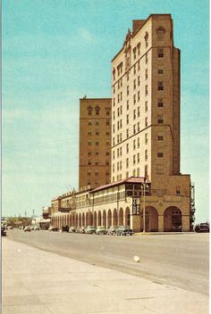 The Buccaneer Hotel - Galveston Texas - Built in 1929 - 12 Story Luxury Hotel - 440 Rooms - Decks Facing the Gulf - Sunbathing on Roof - Convention Facillities - Ornately Carved Stair Rails - Columns - Now Demolished - Implosion Can be Viewed on YouTube Galveston Texas, Galveston Island, Galveston Seawall, San Antonio River, Texas History, Local History, Family Vacation Spots, Flatiron Building, Unique Buildings