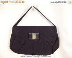 Sale 50% OFF Vintage Black Cord Purse Lucite Clasp Kay Kord Purse