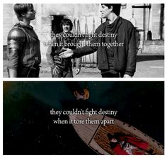 A bit off topic because I do not wish to focus any more on the tragic ending than I already have, but I love how much taller Merlin is than Arthur in their first scene. <3