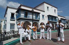 Musicians at Parque Cespedes, Santiago de Cuba.