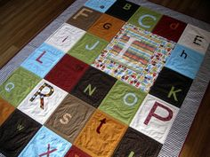 Alphabet Soup Quilt.       