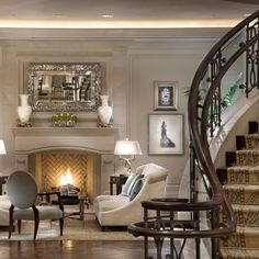 I just love the formal sitting room and the stairs!