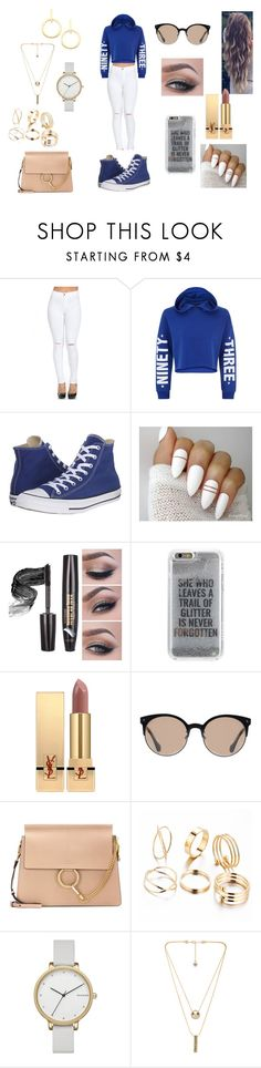 """""""Fall Lunch With The Boyfriend"""" by roxy-crushlings ❤ liked on Polyvore featuring New Look, Converse, Agent 18, Yves Saint Laurent, Balenciaga, Chloé, Skagen, House of Harlow 1960 and Vita Fede"""