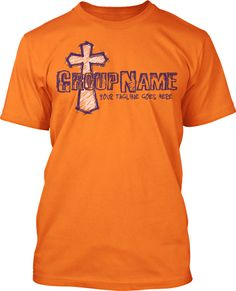 Scribble Cross Youth Ministry Shirt Design
