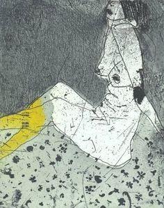 "Saatchi Art Artist Marta Wakula-Mac; Printmaking, ""Nude III"" #art"