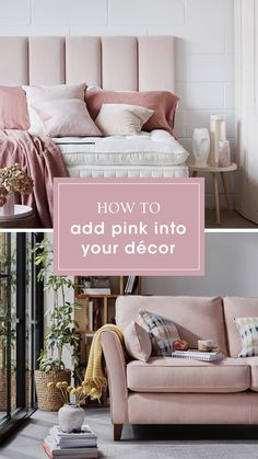 Add a stylish touch to your decor with a pop of pink. Shop the Bond Street sofa and more in our Home of Inspiration. Living Room Interior, Home Interior Design, Living Room Decor, Bedroom Decor, Bedroom Ideas, Master Bedroom, Pink Loveseat, Pink Dining Rooms, Home Decor Inspiration