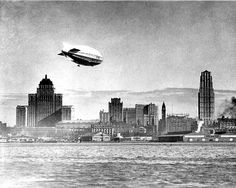 Items similar to Blimp over Toronto Canada 1929 Airship Dirigible Lake Ontario Royal York Hotel Canadian City Black and White Photography Photo Print on Etsy Toronto Skyline, Toronto City, Toronto Canada, Canada Eh, Downtown Toronto, Canadian Culture, Canadian History, Toronto Photos, York Hotels