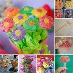DIY Gummy Candy Flowers