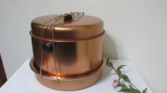 Metal Pie and Cake 5 Piece Carrier  Copper by LuRuUniques on Etsy, $28.00