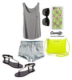 """Casetify CONTEST"" by aminaa97 ❤ liked on Polyvore featuring Casetify, Rebecca Minkoff, CÉLINE and H&M"