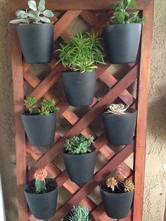 Homemade Vertical Planter could make a cute herb garden......