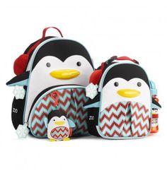 Plecak Zoo Winter Pingwin z zawieszką