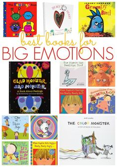 Best Books About Big Emotions and Feelings for Kids Emotions Preschool, Preschool Books, Preschool Activities, Books For Preschoolers, Best Kindergarten Books, Themes For Preschool, Best Books For Kindergarteners, Emotions Activities, Feelings Book