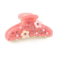 Rena Chris Jage Hair Claw - Pink $28.90 from Cabbeet. http://www.cabbeet.com/hair-accessories/claws/rena-chris-jage-hair-claw-pink