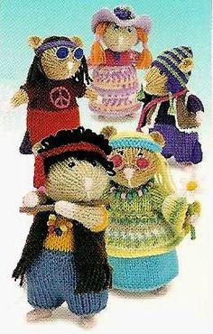 ALAN DART Toy Knitting Pattern - Hippy Hamsters
