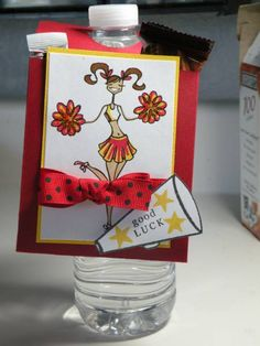 Bottle Pocket by tiffanyapple - Cards and Paper Crafts at Splitcoaststampers Cheerleading Tryouts, Volleyball, Tiny Gifts, Cheer Stuff, Paper Crafts, Diy Crafts, Sports Gifts, Good Luck, To My Daughter