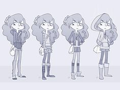 A character for a comic project - test clothing declination (: I'd like to show you more, but obviously I can't.. Clic (: