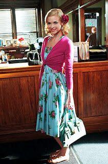J.Crew and vintage dress on Lemon Breeland {Hart of Dixie}