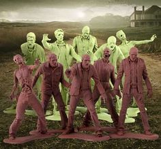 The Walking Dead Zombie Army Men Patriotically Came Back From the Dead trendhunter.com