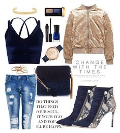 """""""Untitled #334"""" by mgadom ❤ liked on Polyvore featuring New Look, Miss Selfridge, Boohoo, Guerlain, Kendra Scott, Smashbox, FOSSIL and Jennifer Fisher"""
