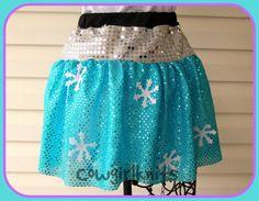 Elsa Running Skirt, Running Skirt, Sparkle Blue Running