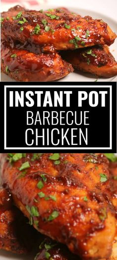 Instant Pot BBQ Chicken is a tender sumptuous chicken dish slathered in barbeque sauce prepared in a short time Perfect for those busy weeknight meals when time is of the essence but you don t want to sacrifice on taste Chicken Breast Instant Pot Recipes, Chicken Tender Recipes, Instant Pot Dinner Recipes, Sauce Barbecue, Bbq Chicken, Barbeque Chicken Crockpot, Chicken Tacos, Breast Recipe, Pressure Cooker Recipes