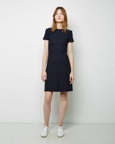 Denne kjolen har eg - kan passe til shoot.  Mørk blå.    Acne Studios | Nazrin+A-Line+Dress | La Garçonne