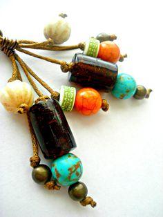Boho Earrings  African Earrings Yoga Jewellery  by HandcraftedYoga